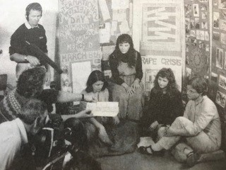 Group of women in the early days of the women's movement at the women's information centre