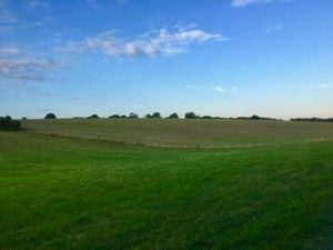 Rolling green hills and open space